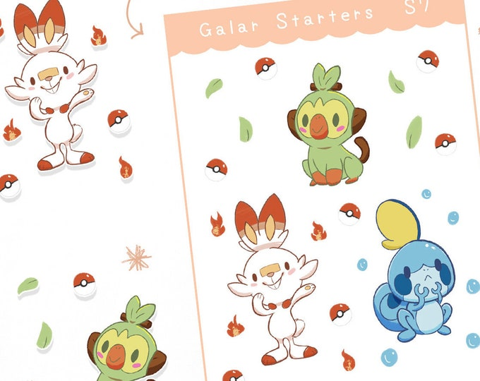 Welcome to Galar! Planner Stickers / Bullet Journal / Cute Stickers / Labels