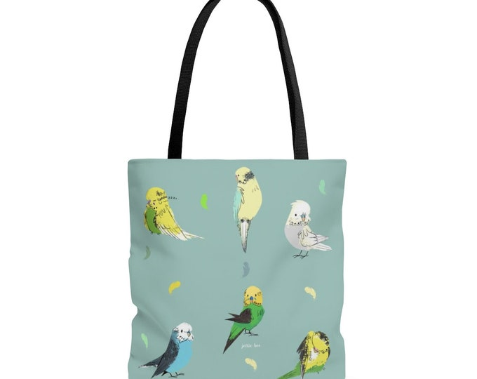 Budgie Tote Bag / Birds / Birb / Cute / Parakeet / Budgerigar