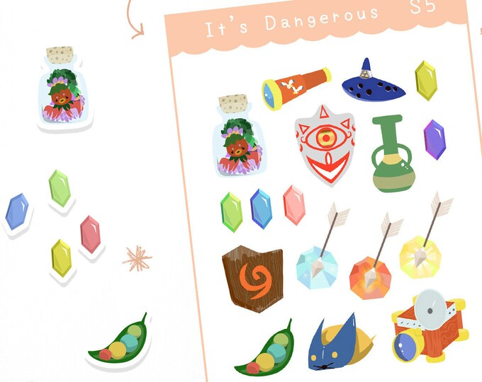 It's Dangerous To Go Alone! Planner Stickers / Bullet Journal / Cute Stickers / Labels / Zelda