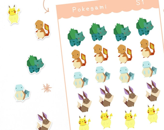 Pokegami Planner Stickers / Bullet Journal / Cute Stickers / Labels