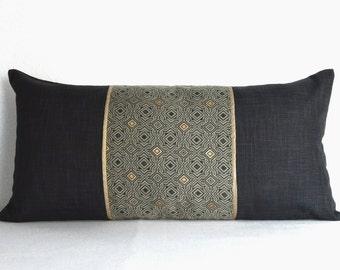 Black gold pillow | Etsy