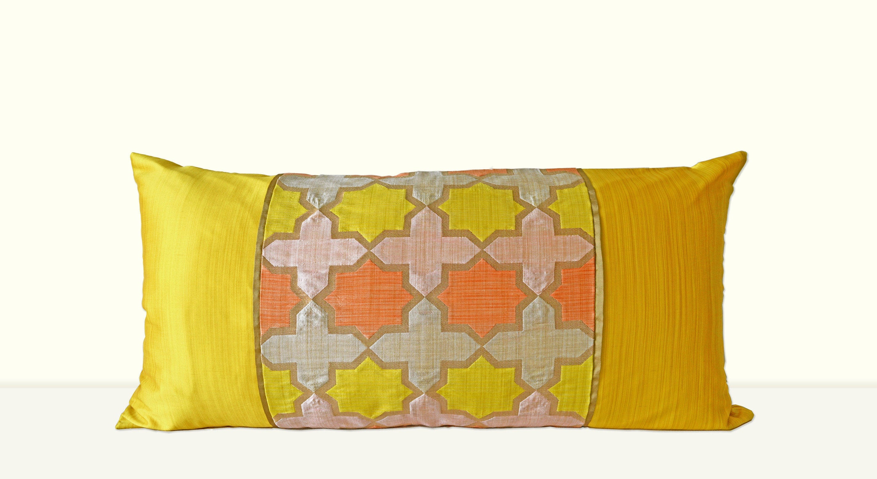 YELLOW Decorative Pillow Case Cover