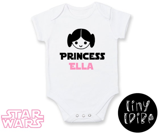 PERSONALIZED Star Wars Princess Leia inspired bodysuit  Daddy/'s Little Princess romper  Star Wars Girl Funny baby bodysuit