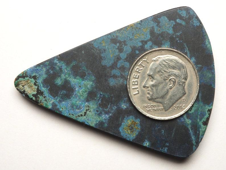 Peruvian Azurite Malachite Designer Cabochon Loose Gemstone C0153