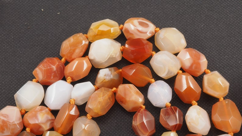 Mexican fire opal free form bead strand 16 inch S0025