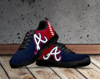 Atlanta Braves Shoes, Custom Atlanta Braves Shoes for Men and Women. Atlanta Braves Sneaskers, MLB Inspired Shoes