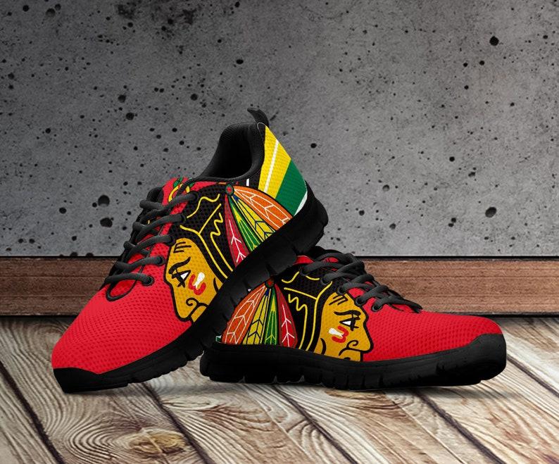 9a29bf570af7 Chicago Blackhawks Shoes Chicago Blackhawks Custom Shoes for