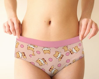 girl in panties bending over