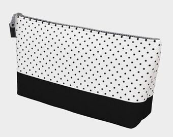 ee5e00c5a2 Black Polka Dot Makeup Bag | Polka Dot Pattern | Polka Dot Bag | Polka Dot  Fabric | Canvas Bag | Canvas Makeup Bag | Gift for her