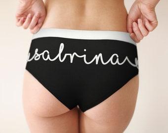 d0f57827e8e0 Custom Name Cheeky Briefs   Name with Hearts   Custom Panty   Custom  Underwear   Cheeky Underwear   Women's Briefs