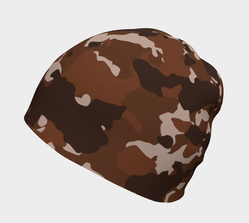 Youth Accessory Skull Hat Winter Hat Skull Cap Handmade Clothing Skateboard Hat Winter Beanie Brown Camo Beanie