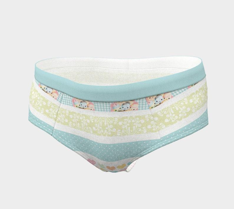 Kawaii Lingerie Striped Fabric Striped Patterns Kawaii Cheeky Briefs Cute Panty Stripe Kawaii Striped Design Kawaii Panty