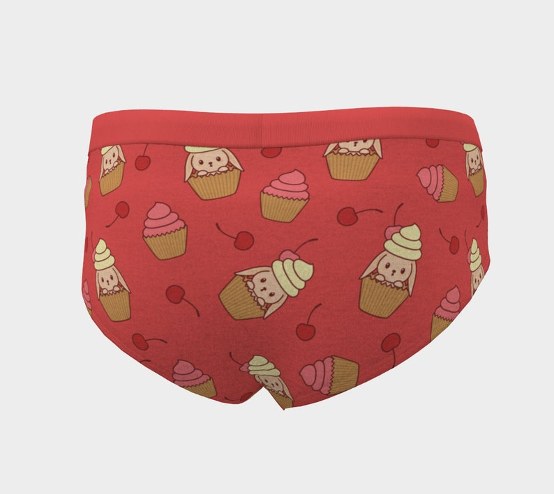 Gift for Her Puppy Print Puppy Design Gift for Bride Kawaii Puppy Cupcake Pattern Cheeky Briefs Puppy Pattern Kawaii Puppy