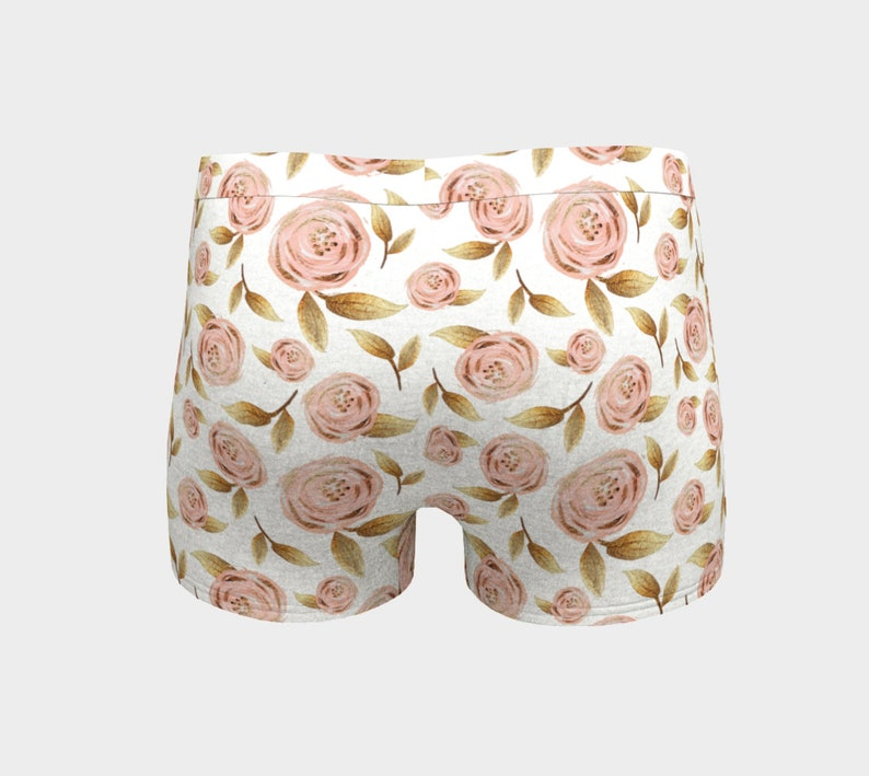 Pink and Gold Bloom Boy Shorts