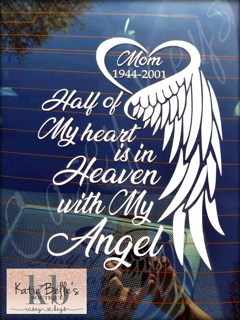 Heart with Wing In Loving Memory Vinyl Decal Loving Memory Decal Memorial Decal Car Decal Phone Decal Craft Decal Customizable Personalize