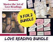 Love Reading BUNDLE: 3 for 2! E-Book about Love Readings + 2 Printable Oracle Decks! Twin Flame & Soulmate Readings | PDF Printable