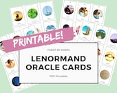 Printable Lenormand Oracle Cards | Instant Digital Download - PDF Printable | A4 & US Letter Version | Lenormand for Beginners