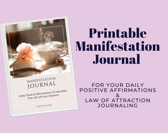 Manifestation Journal With Daily Tools & Affirmations | Law Of Attraction Journal | PDF Printable | Instant Digital Download