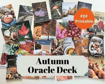 Autumn Oracle Deck: 27 Printable Oracle Cards For The Fall Season | PDF Printable | Digital Download | A4 & US Letter Version