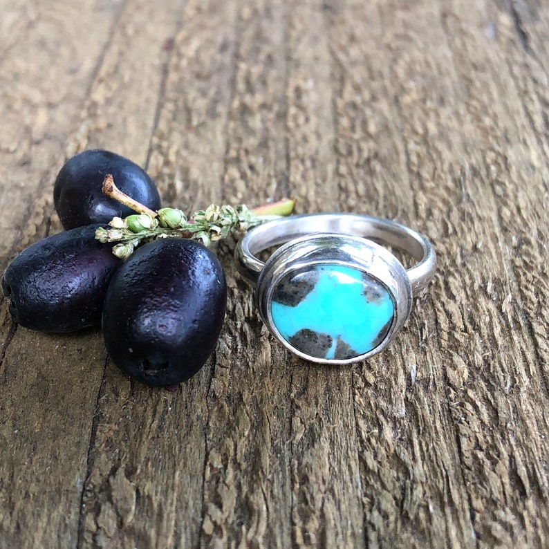 Campitos Turquoise and Sterling Silver Stacker Ring