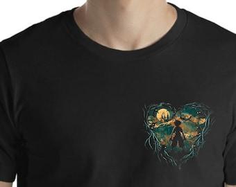 c6b139f984dc35 Kingdom Hearts BREAST Logo, Inspired RPG Gamer Fan Black Kids & Adults  Unisex T-Shirt