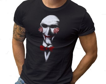 a99a2113 Want To Play A Game Face Saw Halloween TF Parody Mashup Comedy T shirt All  sizes