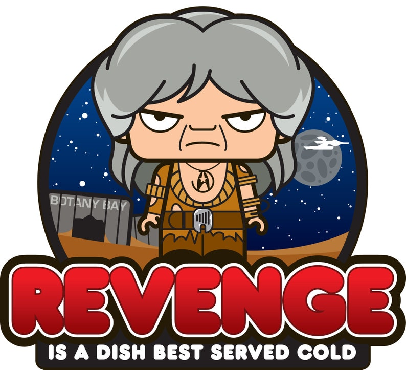 Iconz REVENGE is a Dish Best Served Cold Star Trek The Wrath of Khan Vintage SciFi Tv Series Printed Tee Shirt Iconz Tee Shirt