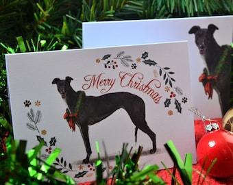Birthday Xmas Greyhound//Whippet  DOG brand new metal glasses case great gift!