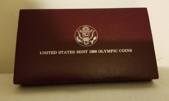 1988 Olympic Prestige Proof Coin Set United States Mint