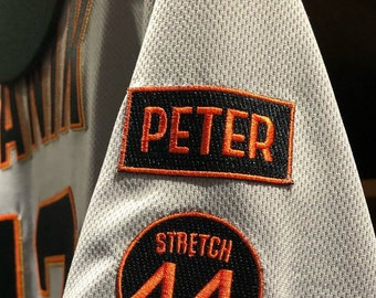 1bcbad1cf41 Peter Patch - Peter Magowan Memorial San Fransisco Giants baseball jersey  Patch Iron On Patch