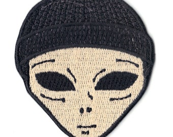 Lil Mayo Alien Motif Iron On Embrodiery Patch b745f94fb72