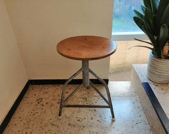 VINTAGE 50er Werkstatthocker Drehhocker Hocker Stuhl Industriedesign Loft chair