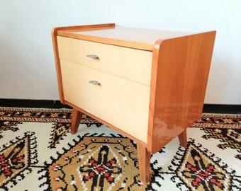 Vintage 50er Nachttisch Kommode Shabby Beistelltisch Beistellschrank
