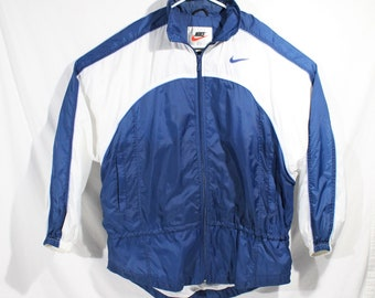 b2052524f477 Vintage Nike Tracksuit Windbreaker Jacket And Pants Blue White Mens XL