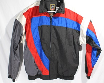 294461664a77 NEW Vintage 1994 JC Penney USA Olympics Windbreaker Jacket Manufacture  Sample Mens M