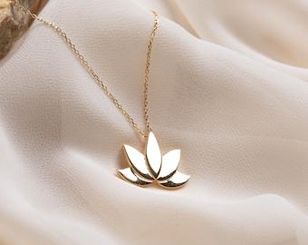 LOTUS 50x50mm- Flower Pendant 017-043GP 1 pc Matte Gold Plated  Lotus