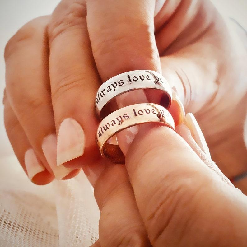 1e0bcc6e1 Name Enamel Ring Customized Name Ring Wedding Band | Etsy