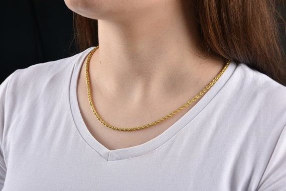 Length Options 14k Yellow and White Gold White And Yellow 1.35mm Twisted Dorica Chain Necklace 16 18 20 24