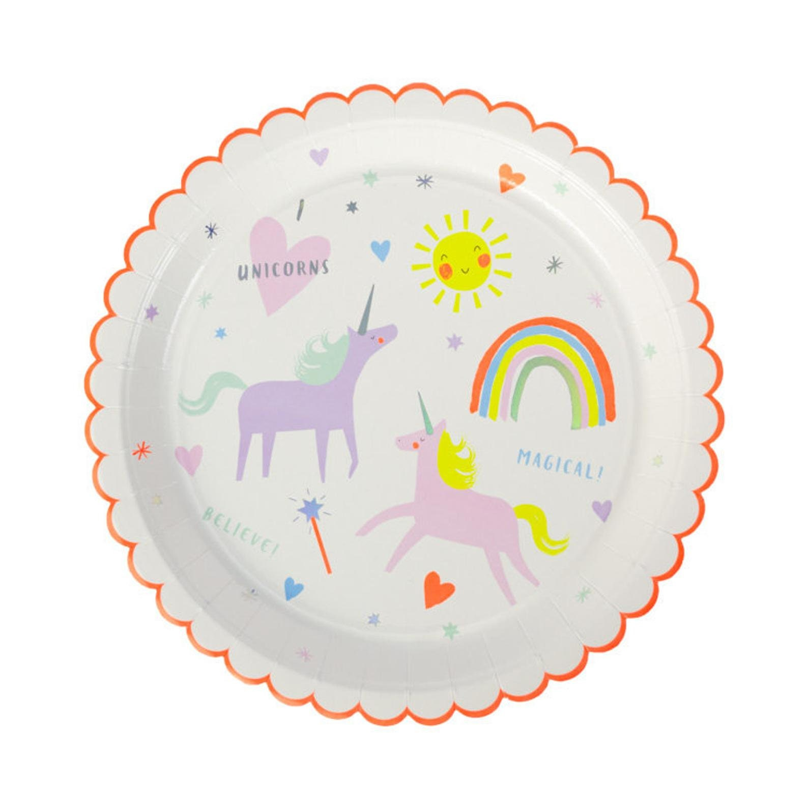 Unicorn Paper Plates for 8 Guests Page Two