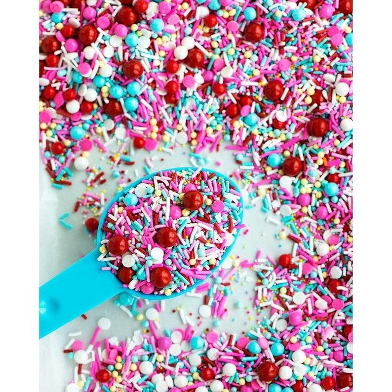 Summer Sprinkles Cherry on Top Sprinkle Medley Retro Sprinkles Cherry Sprinkles Unique Sprinkles Cherry Themed Sprinkle Mix