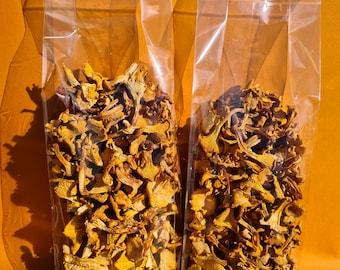 Chanterelles Dried 200 g. Wild Mushroom Air Dried