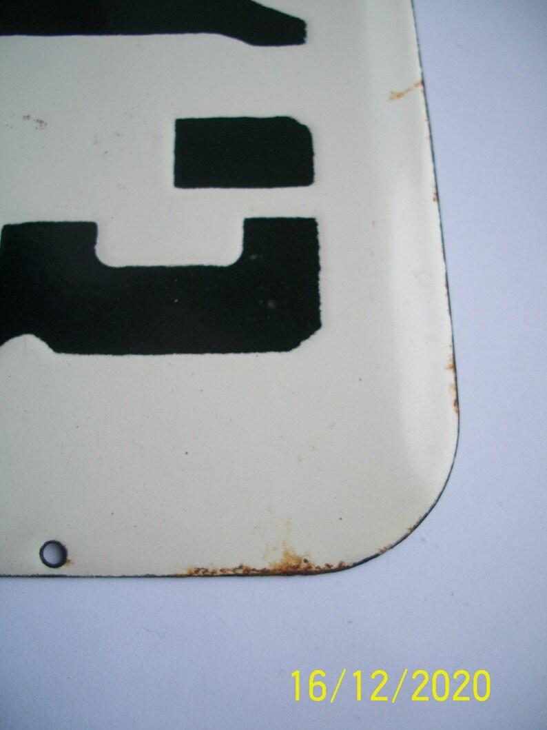 Enamel Number Plaque No 13 House Door Number quest