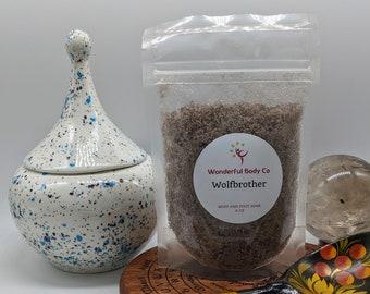 Wolfbrother Bath Salts / Book Inspired Body & Foot Soak / Epsom Salt / Coconut Oil / Wheel of Time / Robert Jordan / Bourbon Vanilla Whiskey