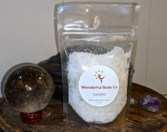 Hagrid Bath Salts / Book Inspired Epsom Salts Body & Foot Soak / Harry Potter / J.K. Rowling / Palo Santo and Orange Essential Oil / Unsex