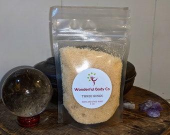Three Kings Bath Salts / Christmas Story Inspired Epsom Salt Foot and Bath Soak / Frankincense and Myrrh Essential Oil Coconut Oil Base Gift