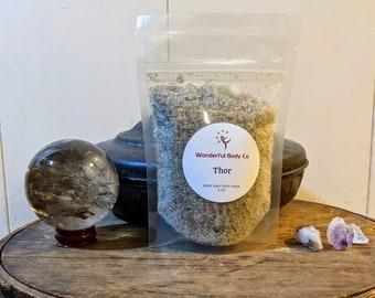 Thor Ritual Bath Salts / Deity Inspired Body and Foot Soak / Epsom Salt / Coconut Oil / Devotional Blend / Sage / Sandalwood / Tonka Bean