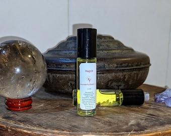 Hagrid Fragrance Roller / Book Inspired Coconut Oil Based Roller Ball Perfume / Harry Potter / J.K. Rowling / Unisex Palo Santo Orange Scent