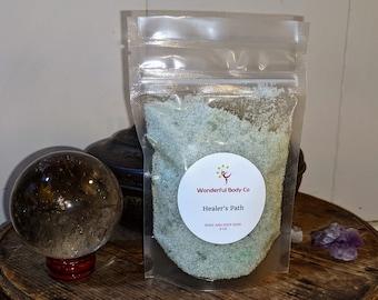 Healer's Path Bath Salts / Ritual Epsom Salt Blend / Healing Growth Inspired Scent / Pagan Druid Witch Heathen Floral Fragrance / Self Care