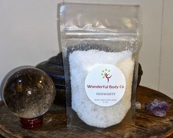 Hogwarts Bath Salts / Book Inspired Epsom Salt Body & Foot Soak / Harry Potter / J.K. Rowling / Bookish Gift for All Houses / Unisex Scent