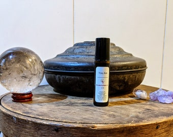 You Are Fragrance Rollers / Customizable Gift / Coconut Oil Based Perfume / Unisex Healing Growth and Strength / Mint Herbal Floral Scent /
